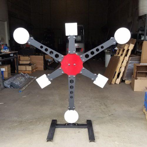 Hexstar, Double+Spinner, Spinner+Target, Swinger, Swinger target, IPSC, ıdpa, Çelik Hedef Sistemi, metal hedef (3)+Target
