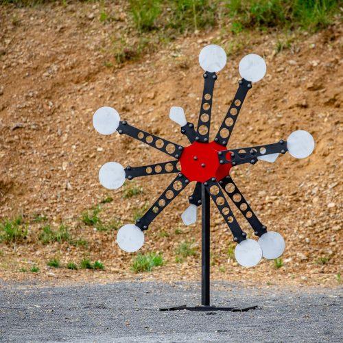 Modüler Rüzgar Gülü Texas Star Target Çelik Hedef (Portatif Sistem)
